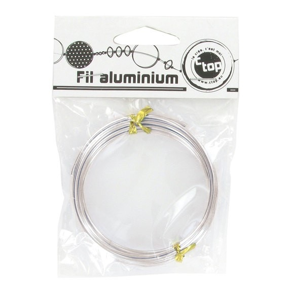 Indispensables Bobine de fil d'aluminium argent 2mmx2m