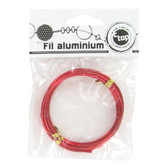 Bobine de fil d'aluminium rouge 2mmx2m