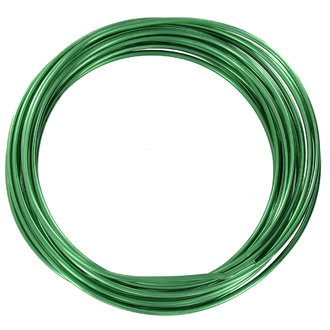 Bobine de fil d'aluminium vert 2mmx2m