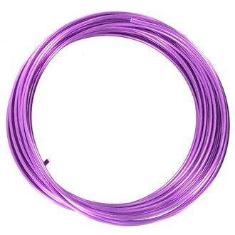 Bobine de fil d'aluminium violet 2mmx2m