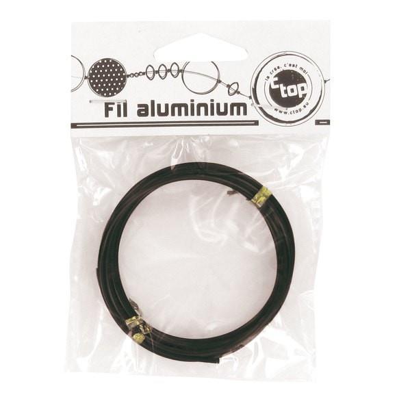 Indispensables Bobine de fil d'aluminium noir 2mmx2m