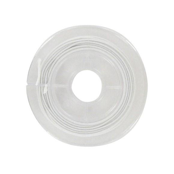 Fil d'élastique gaine blanche 5m
