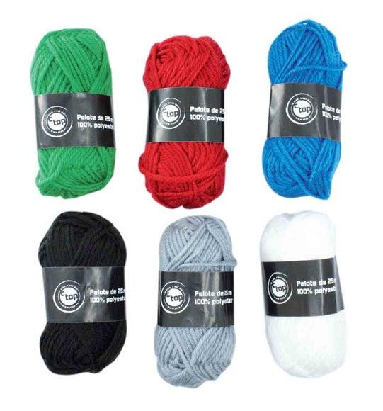Achat en ligne 6 Pelotes de laine couleurs classiques