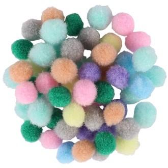 Sachet de 200 mini-pompons pastels diamètre 0,8cm