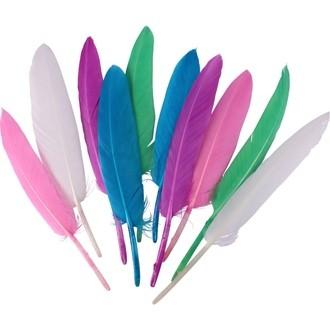 Sachet de 120 plumes indiennes pastels 7 à 15cm
