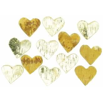 Cœur en bouleau pour ornements 18gr