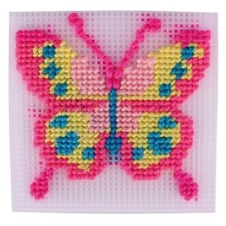 Kit canevas papillon 13,5x14cm