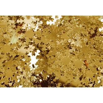 Sequins flocons dorés à coller Ø1,3cm 50g