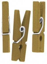 Achat en ligne Lot de 50 mini pinces décoratives or 2,5cm