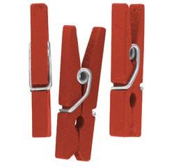Achat en ligne Lot de 50 mini pinces décoratives rouge 2,5cm