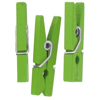 Lot de 50 pinces à linges vert anis 2,5cm