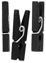 Achat en ligne Lot de 50 mini pinces décoratives noir 2,5cm