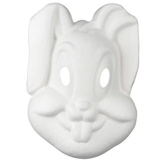 Masque lapin en papier recycle 18,5x26cm