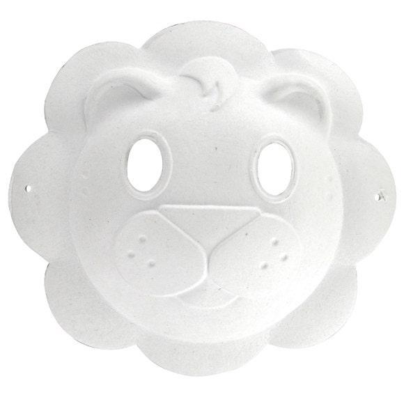 Achat en ligne Masque lion en papier recycle 23x22cm
