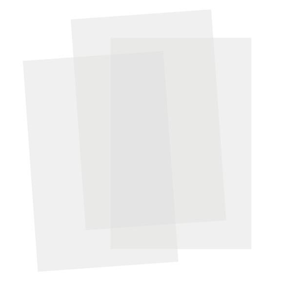 Set de 3 feuilles transparentes en plastique Magique 20x30cm