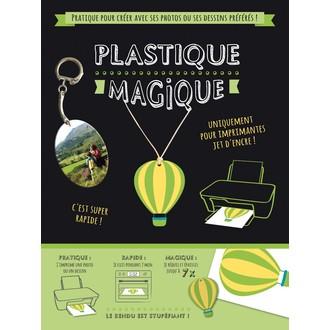 2 feuilles de plastique magique pour imprimante jet d'encre
