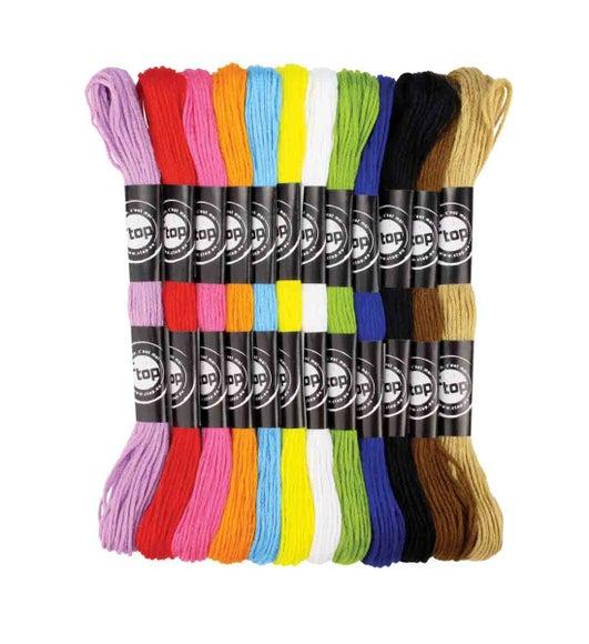 Achat en ligne Fils coton couleurs vives pour bracelet brésilien