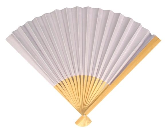 Achat en ligne Éventail en papier blanc 25cm
