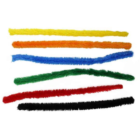 6 méga chenilles colorées