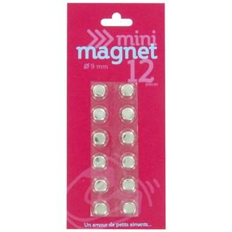 Indispensables 12 aimants or et argent 9mm