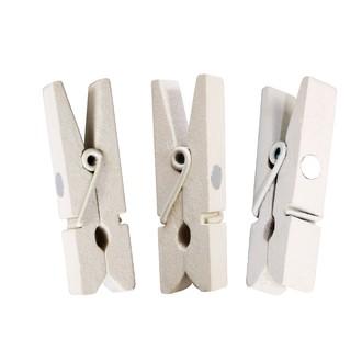 Set de 10 pinces a linge aimantées blanches 35mm