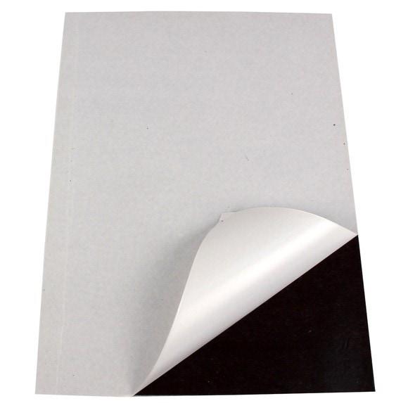 Feuille adhésive magnétique format A4