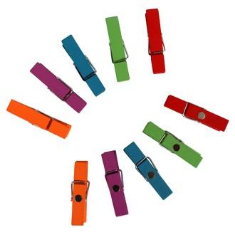 Set de 10 pinces à linge aimantées 35mm 5 couleurs