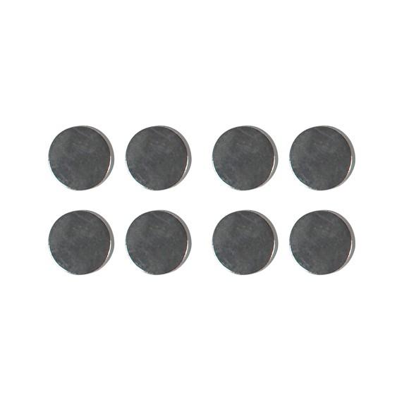 Set de 8 aimants forts avec aspect en métal 10mm