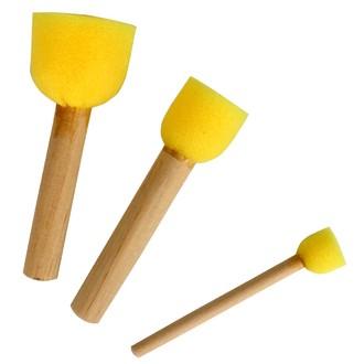 Lot de 3 tampons mousses assortis de 1,5cm à 3,5cm