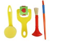 Achat en ligne Lot de pinceaux, tampons, éponge et rouleaux frise 4 pièces