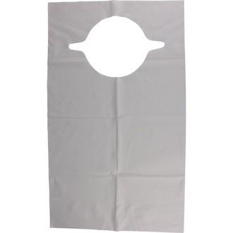 10 tabliers bavoir jetables en papier plastifié 60x35cm