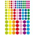 Gommettes rondes couleurs vives diamètres assortis 348 pcs