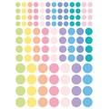 Gommettes rondes pastels