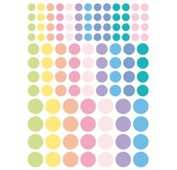 Achat en ligne Gommettes rondes pastels