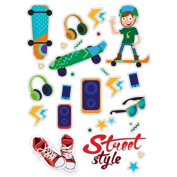 Gommettes street style skateboard