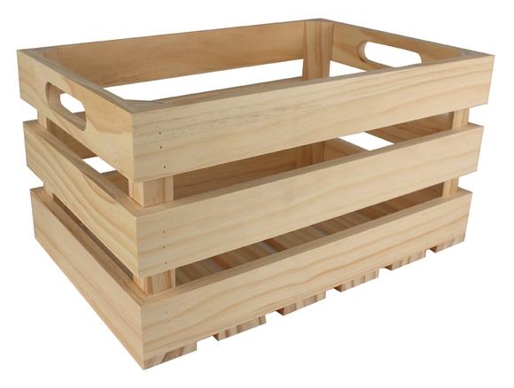 Achat en ligne Cagette en bois ajourée 27 x 17 x 14 cm