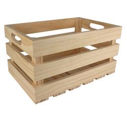 Achat en ligne Cagette en bois ajourée 32,5 x 21,5 x 17 cm