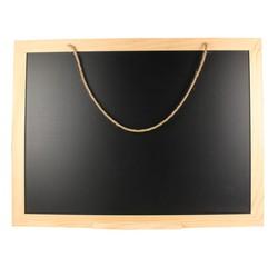 compra en línea Pizarra con marco de madera y asa de cuerda (88 x 66 x 1,5 cm)