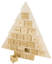 Achat en ligne Calendrier de l'avent sapin en bois 53x56x6,5cm
