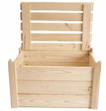 Achat en ligne Coffre à jouets en bois brut à décorer 28x18x13cm