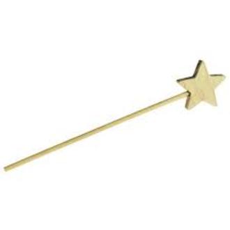Baguette magique bois étoile 30cm