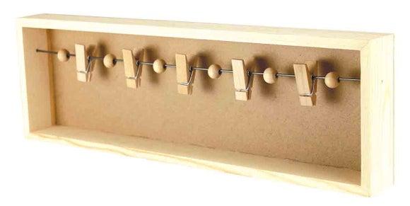 Achat en ligne Pêle-mêle 3D bois pinces 38,5x12x4cm