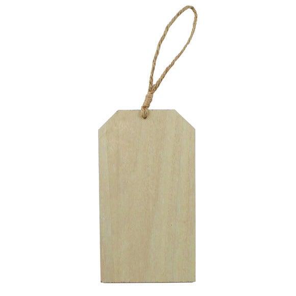 Tag à suspendre en bois 18x10x0,6cm