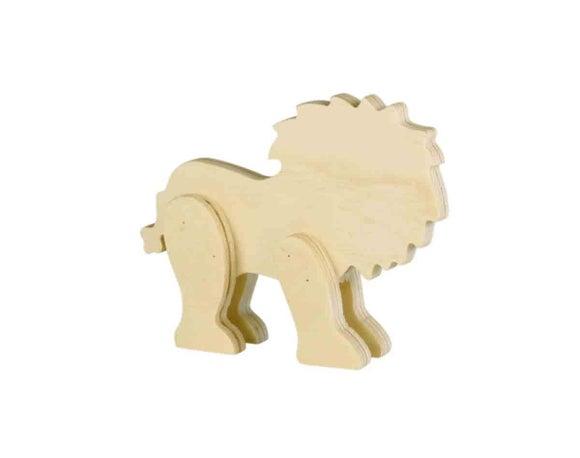 Achat en ligne Lion bois 12x9x2cm