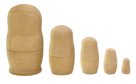 Achat en ligne 5 Poupées Russes bois 2,5 à 11cm