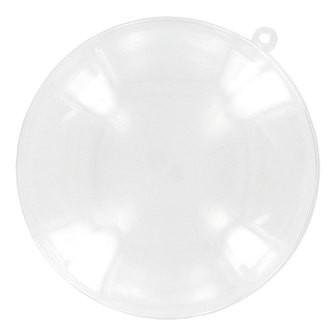 Médaillon divisible en plastique transparent Ø9cm