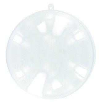 Médaillon divisible en plastique transparent Ø7cm