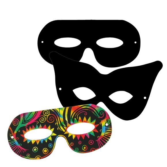 Achat en ligne Set de 4 masques à gratter avec grattoir multicolore