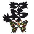 Set de 4 masques à gratter avec grattoir multicolore