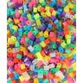 Kit créatif 1000 perles fusibles translucide assorties 5mm